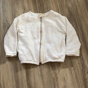 Lined bomber cardigan